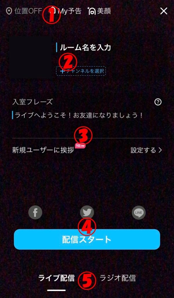 DokiDokiLive 配信準備画面
